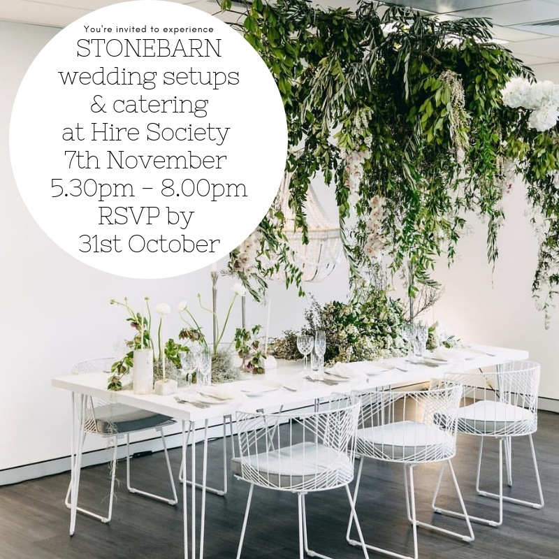 Stonebarn Wedding Setups & Catering