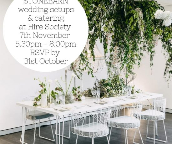 Stonebarn Wedding Setups & Catering
